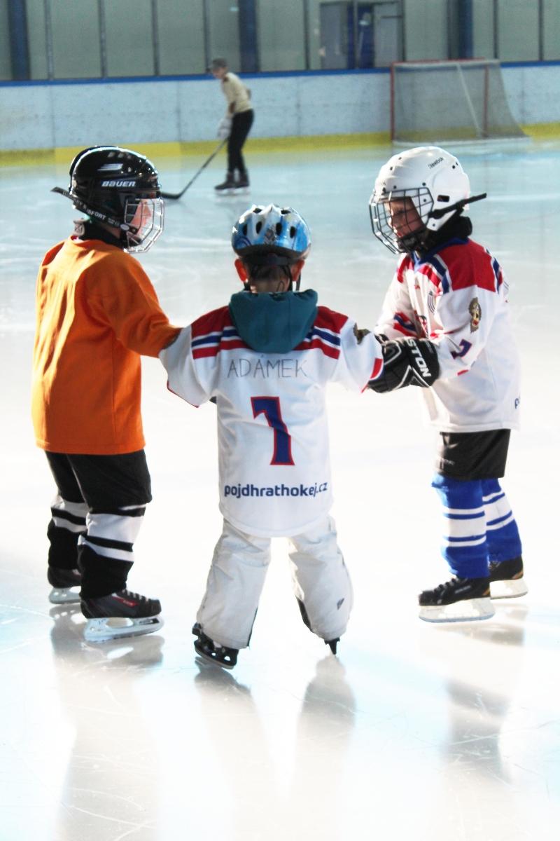 První trénink na ledě